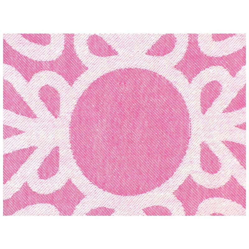 "Strandtuch ""Cala Pada"" (100 x 190 cm) - Pink Candy - Vorderseite Detail"
