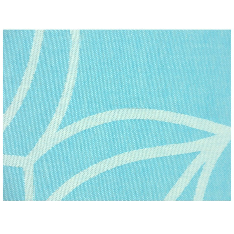 "Strandtuch ""Cala Vadella"" (100 x 190 cm) - Caribbean Turquoise - Vorderseite Detail"