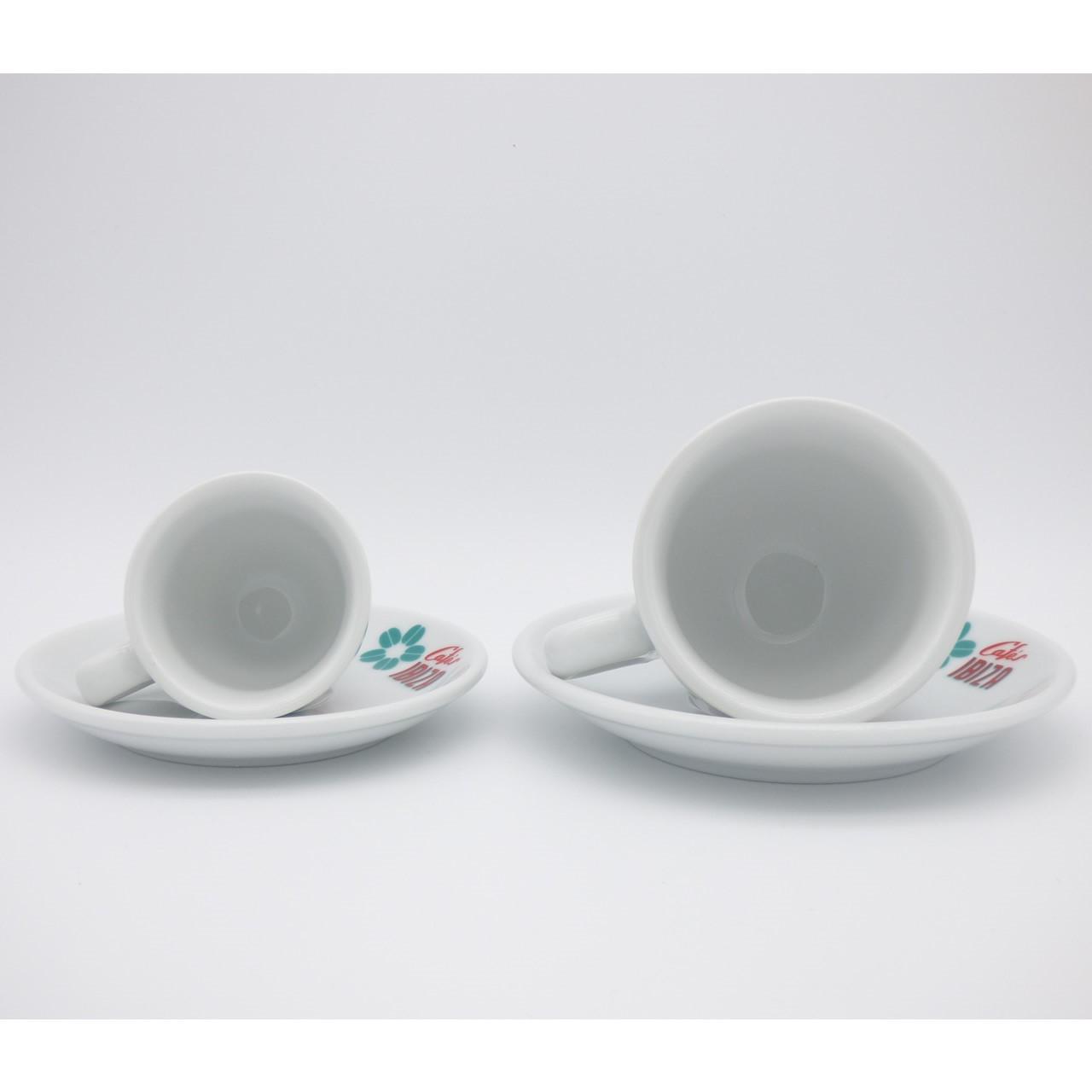 Größenvergleich Espresso- und Milchkaffee-Tasse (Symbolfoto)