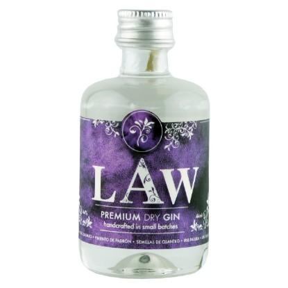 Bild von LAW Premium Dry Gin (0,044 L) in der Mini-Flasche