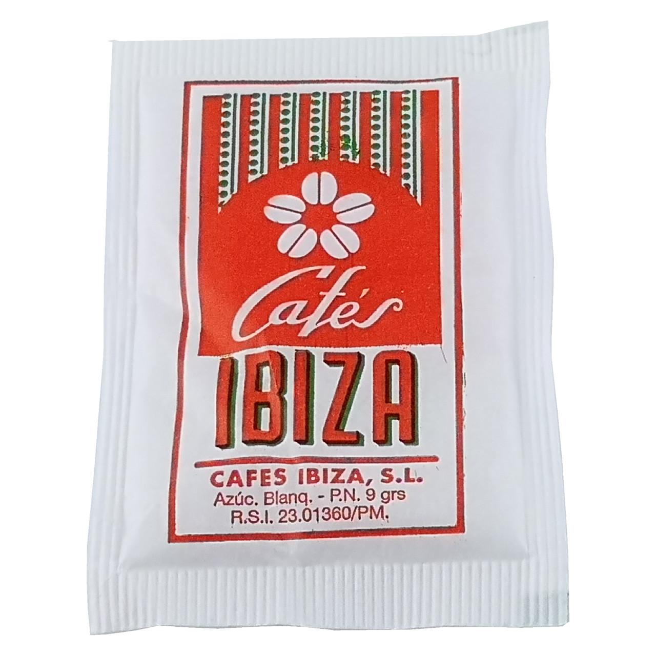 Bild von 50 Stück Zuckerpäckchen (weißer Zucker) - Cafés Ibiza