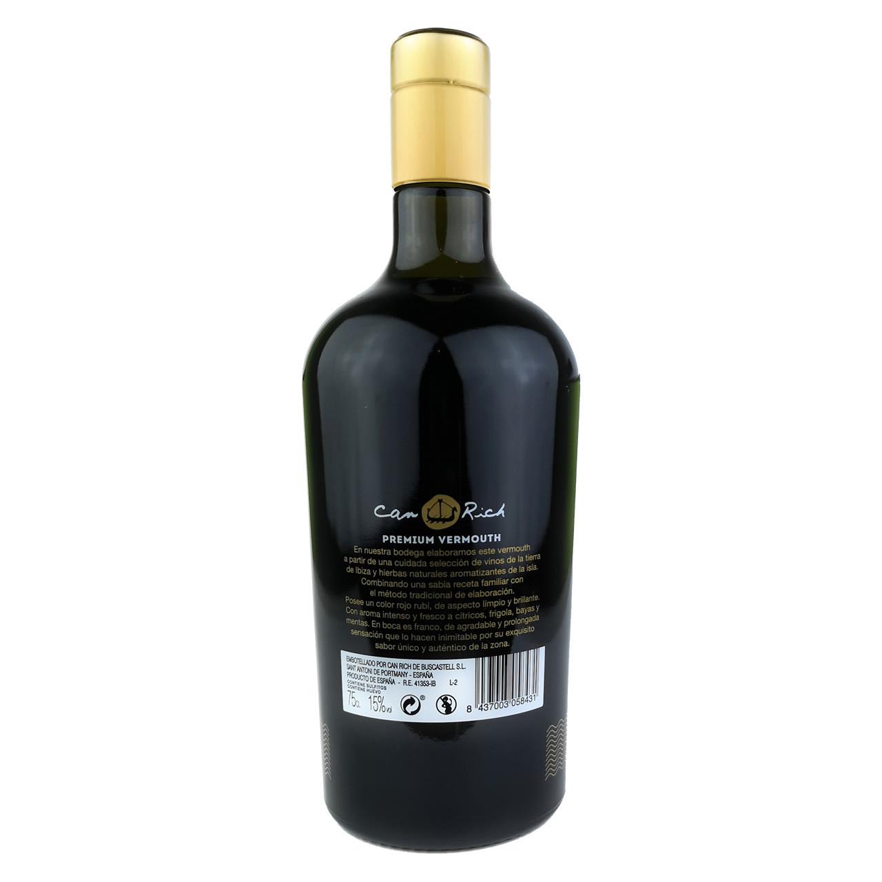Premium Vermouth (0,75 L) - Can Rich Rückseite
