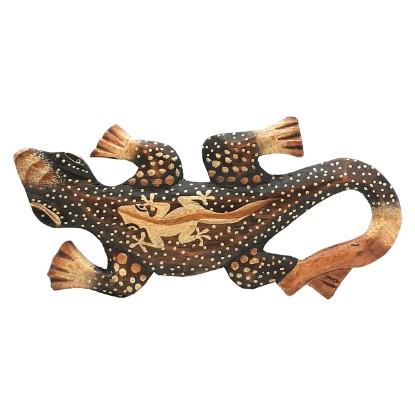 Holz Gecko (20 cm)