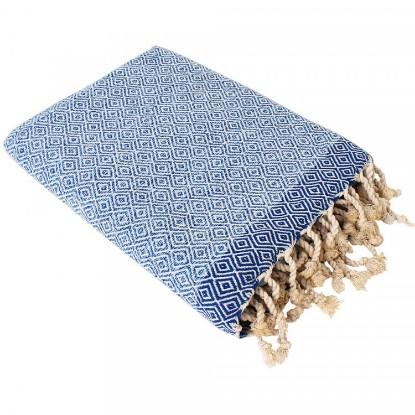 "Bild von Strandtuch ""Cala Tarida"" (100 x 190 cm) - Blue/Light Blue"